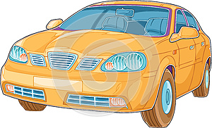 Yellow Auto Royalty Free Stock Image - Image: 25489006