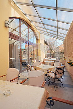 Restaurant Balcony Royalty Free Stock Image - Image: 25491346