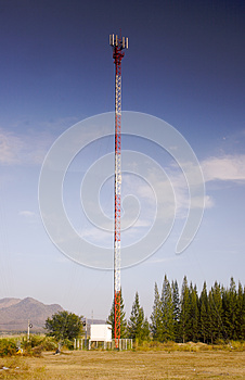 Mobile Phone Communication Antenna Tower Sky Blue Royalty Free Stock Photos - Image: 25498358