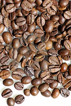 Grains of coffee. Stock Photos