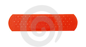 Red Bandage Stock Photos