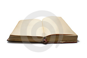 Ancient book with no text Stock Photography