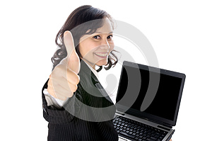 Happy Woman Using Laptop Stock Photography - Image: 25500122
