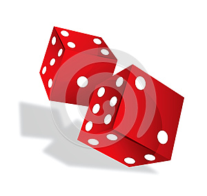 Red Dices Royalty Free Stock Photography - Image: 25500457
