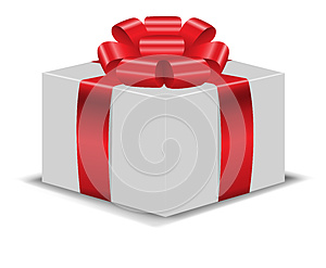 The Box With Red Bow 2 Royalty Free Stock Photo - Image: 25502115