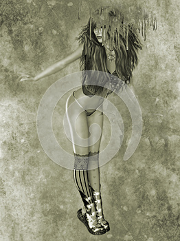 Gothic Girl Royalty Free Stock Image - Image: 25507126