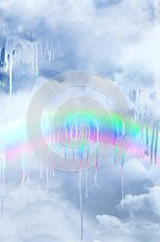 Melting Rainbow Royalty Free Stock Images - Image: 25507169