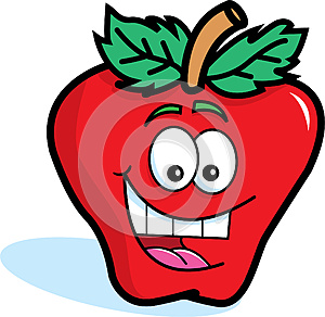 Smiling Red Apple Royalty Free Stock Photography - Image: 25520797