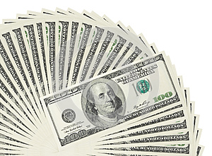 Heap Of Dollar Bank Notes Stock Image - Image: 25526131