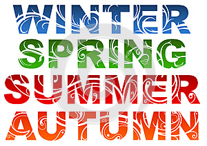 Seasons Royalty Free Stock Images - Image: 25528289