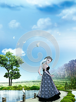 Girl In Dreamland Royalty Free Stock Photo - Image: 25531245