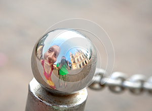 Funny Tourists On Excursion Stock Image - Image: 25533371