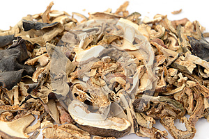 Dried Mushrooms Royalty Free Stock Photo - Image: 25534995