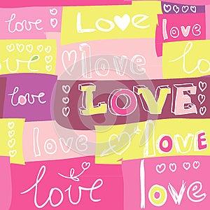 Love Pattern Royalty Free Stock Photos - Image: 25541598