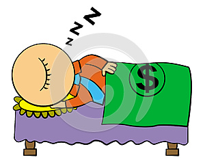 Sleeping Rich Stock Photo - Image: 25546680