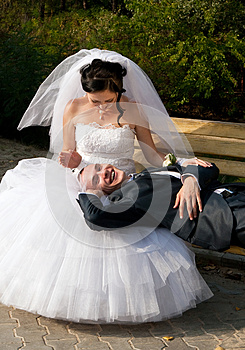 Young Couple Resting Outdoors Royalty Free Stock Photos - Image: 25547788
