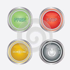 Media Buttons Stock Photos - Image: 25549283