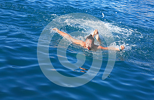 Butterfly Swimming Royalty Free Stock Images - Image: 25557239