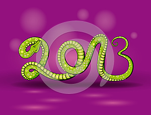 Green Snake 2013 Royalty Free Stock Image - Image: 25558386