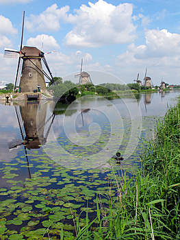 Windmills In Holland Stock Photo - Image: 25560460