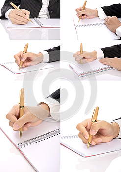 Set Of Hand Writing Woman Stock Photo - Image: 25564340