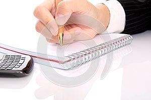 Hand Write Something Stock Photography - Image: 25564342