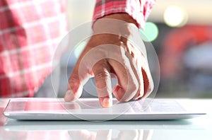 Man Using Digital Tablet Royalty Free Stock Photos - Image: 25576718