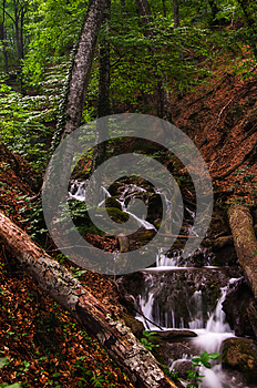 Wataerfall In Forest, Crimea, Ukraine Royalty Free Stock Photos - Image: 25580678