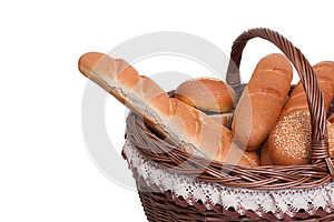 Arrangement Of Bread In Basket Royalty Free Stock Photography - Image: 25589157