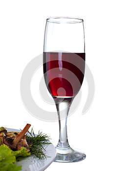Red Wine Wineglass Stock Images - Image: 25589274