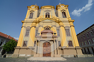 Yellow Cathedral Church Royalty Free Stock Photography - Image: 25592197