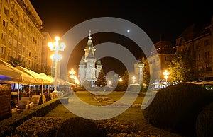 Timisoara Cathedral Square Stock Image - Image: 25592311