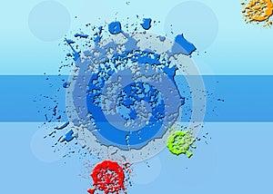 Color Splash Background. Stock Photo - Image: 25592950