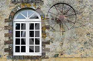 Window And Wheel Royalty Free Stock Photography - Image: 25595447