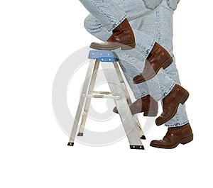 Boots Climb A Ladder Stock Images - Image: 25597614