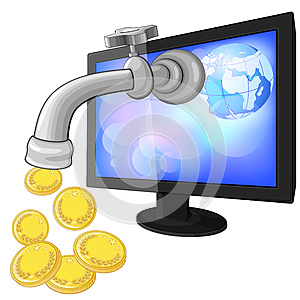 Concept Of Earning Money With Internet Royalty Free Stock Photography - Image: 25598167