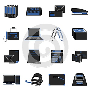 Office Icons Stock Photo - Image: 25598240
