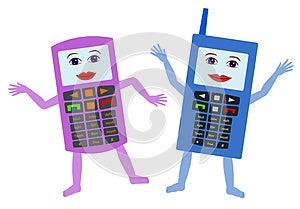 Happy Cellphones Stock Photo - Image: 25599540