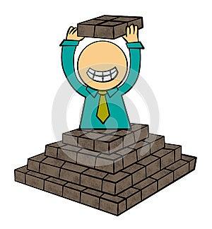 Pyramid Success Stock Photography - Image: 25599562