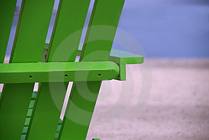 Green Beach Chair Close Up