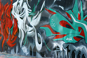 Colorful Wall Painting Stock Photography - Image: 2564722
