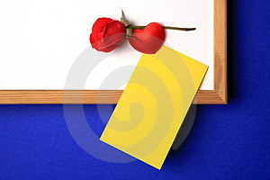 White-board With Yellow Note Royalty Free Stock Photography - Image: 2565597