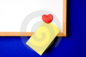White-board With Yellow Note Royalty Free Stock Photo - Image: 2565665