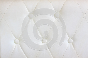 White  Leather With Button Decorated Royalty Free Stock Photo - Image: 25600035