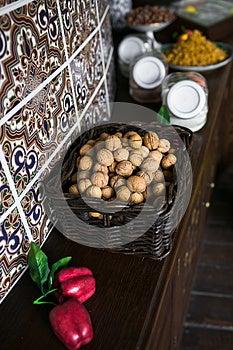 Walnut In Basket Royalty Free Stock Photo - Image: 25609935