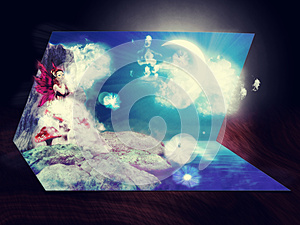 3D Live Card Royalty Free Stock Images - Image: 25623579