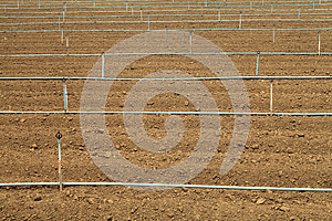 Plow Land And Irrigation System Royalty Free Stock Image - Image: 25623676