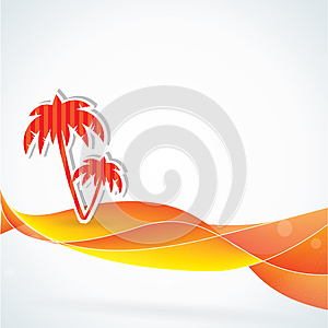 Summer Vector Background, Orange Colors Stock Photography - Image: 25624512