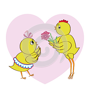 Chickens In Love Royalty Free Stock Photo - Image: 25632145