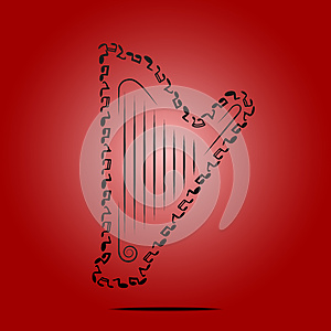 Harp Royalty Free Stock Images - Image: 25633169